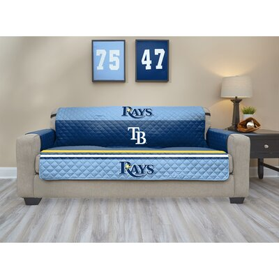 MLB Sofa Slipcover MLB Team: Tampa Bay Rays, Size: Small