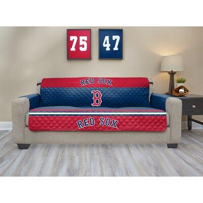 MLB Sofa Slipcover MLB Team: Boston Red Sox, Size: Small