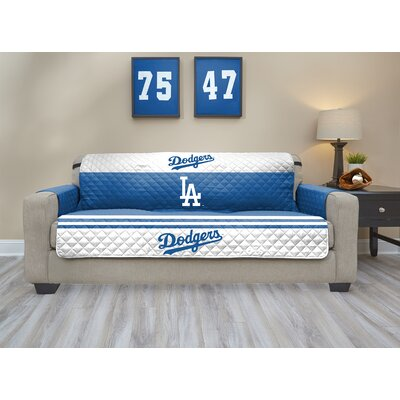 MLB Sofa Slipcover MLB Team: Los Angeles Dodgers, Size: Small