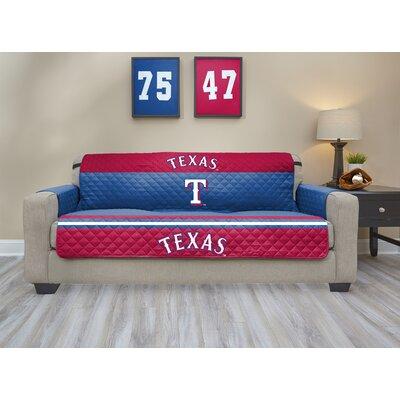 MLB Sofa Slipcover MLB Team: Texas Rangers, Size: Small