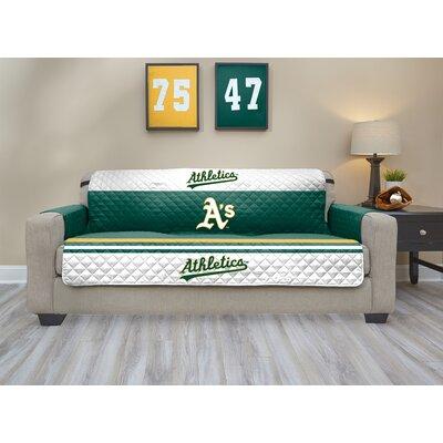 MLB Sofa Slipcover MLB Team: Oakland Athletics, Size: Small