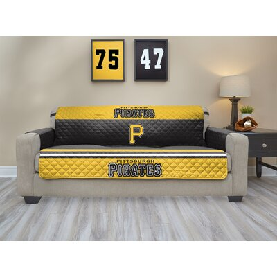 MLB Sofa Slipcover MLB Team: Pittsburgh Pirates, Size: Small