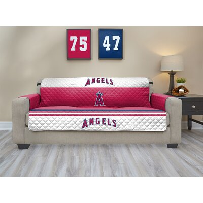 MLB Sofa Slipcover MLB Team: Los Angeles Angels, Size: Large
