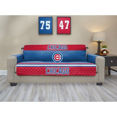 MLB Sofa Slipcover MLB Team: Chicago Cubs, Size: Small