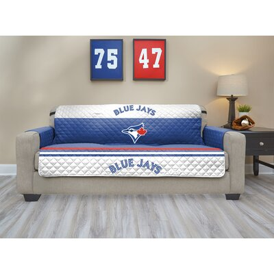 MLB Sofa Slipcover MLB Team: Toronto Blue Jays, Size: Small