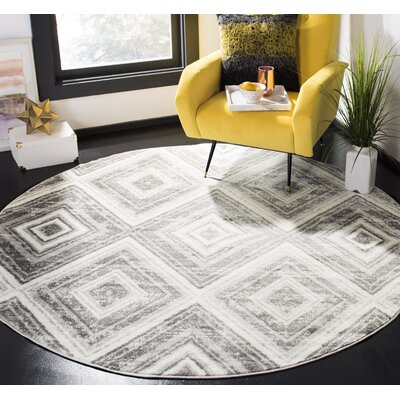 Coghill Gray/Ivory Area Rug Rug Size: Rectangle 6 x 9