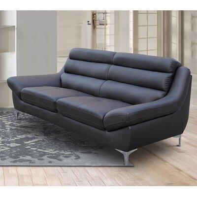 Rossignol Kenna Loveseat Upholstery: Dark Brown