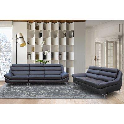 Rossi Kenna 2 Piece Living Room Set Color: Dark Brown
