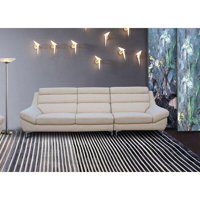 Rossiter Kenna Sofa Upholstery: Cream Pearl