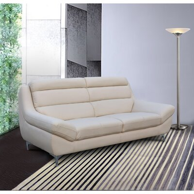Rossignol Kenna Loveseat Upholstery: Cream Pearl