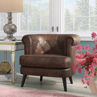 Gistel Club Chair Upholstery: Antique Brown