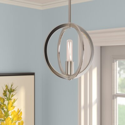Hazel Brush Nickel 1-Light Mini Pendant Finish: Brushed Nickel