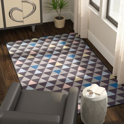 Kendra Pastel Aztec Gray Area Rug Rug Size: Rectangle 5 x 8