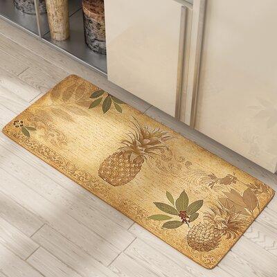 Jaidyn Pineapple Coast Kitchen Mat Mat Size: Runner 110 x 44
