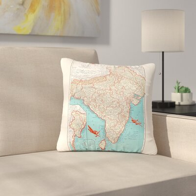 Catherine Holcombe Travel to India Outdoor Throw Pillow Size: 16 H x 16 W x 5 D