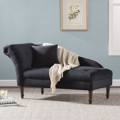 Arno Chaise Lounge Upholstery: Black