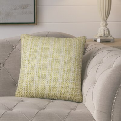 Polytric Plaid Throw Pillow Color: Leaf