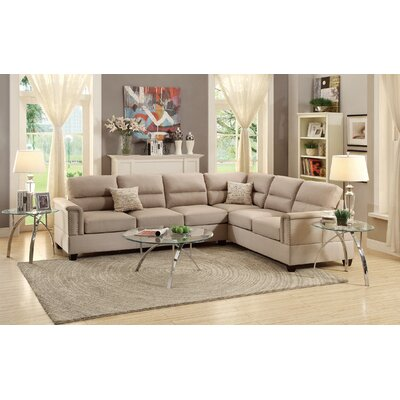 Marra Reversible Sectional Upholstery: Sand