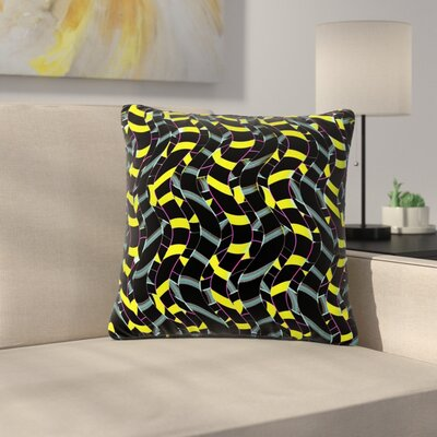 Dawid Roc Waves in Ropes Abstract 1 Abstract Outdoor Throw Pillow Size: 16 H x 16 W x 5 D