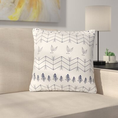 Famenxt Tribal Arrows Jungle Stars Outdoor Throw Pillow Size: 16 H x 16 W x 5 D, Color: Gray