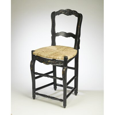 Galliher 24.5 Bar Stool Color: Black