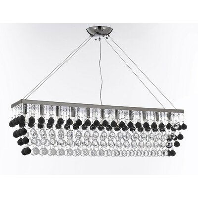 Inglewood 11-Light Crystal Pendant Crystal Color: Clear/Black