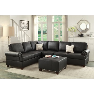 Follett Reversible Sectional Upholstery: Black
