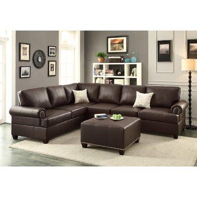 Follett Reversible Sectional Upholstery: Espresso