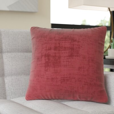 Aylor Square Throw Pillow Color: Red