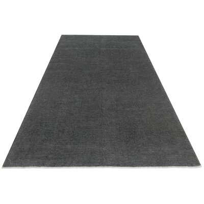 One-of-a-Kind Karr Over Dyed Olinda Hand-Knotted Wool Gray Area Rug