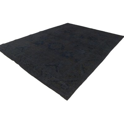 One-of-a-Kind Karr Over Dyed Leroy Hand-Knotted Wool Charcoal/Gray Area Rug