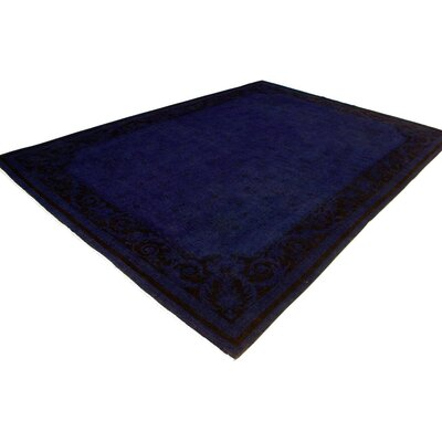 One-of-a-Kind Karr Over Dyed Bethanie Hand-Knotted Wool Blue Area Rug