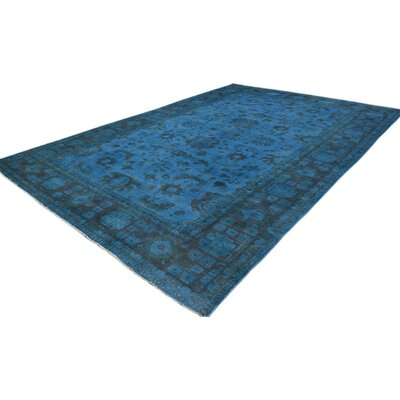 Onion Creek One-of-a-Kind Color Reform Over Dyed Rose Hand-Knotted Wool Blue Area Rug