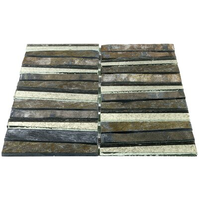 Reflection Trapezoid Random Sized Natural Strone Mosaic Tile in Gray/Bronze