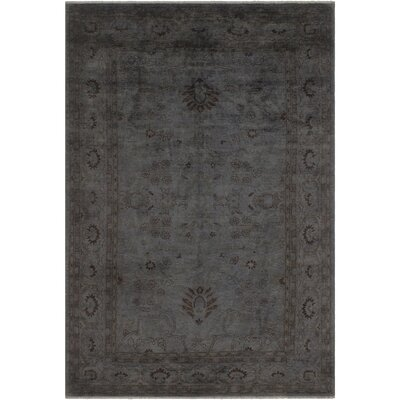 One-of-a-Kind Karr Over Dyed Charlsie Hand-Knotted Wool Gray Area Rug