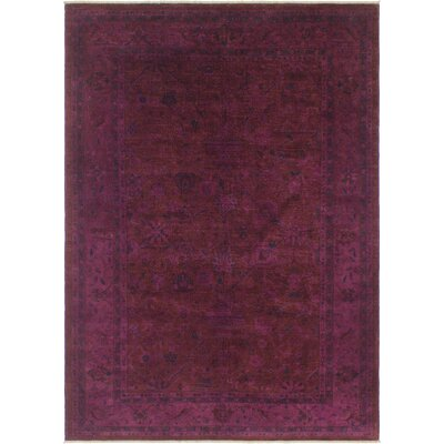 One-of-a-Kind Karr Over Dyed Claretta Hand-Knotted Wool Purple/Blue Area Rug