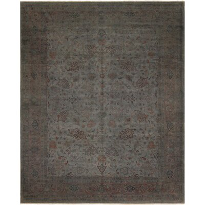 One-of-a-Kind Karr Over Dyed Bridgett Hand-Knotted Wool Gray Area Rug