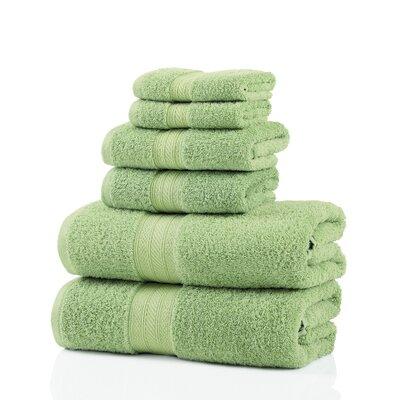 6 Piece Towel Set Color: Lime