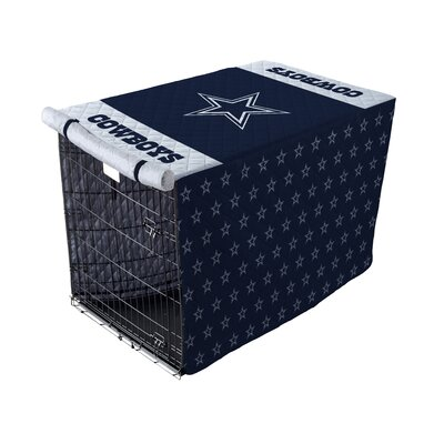 NFL Pet Crate Cover NFL Team: Dallas Cowboys, Size: 42 Crate