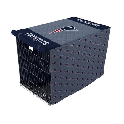 NFL Pet Crate Cover NFL Team: New England Patriots, Size: 42 Crate
