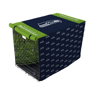 NFL Pet Crate Cover NFL Team: Seattle Seahawks, Size: 42 Crate