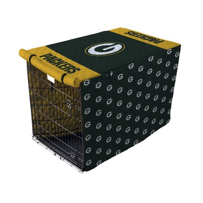 NFL Pet Crate Cover NFL Team: Green Bay Packers, Size: 42 Crate