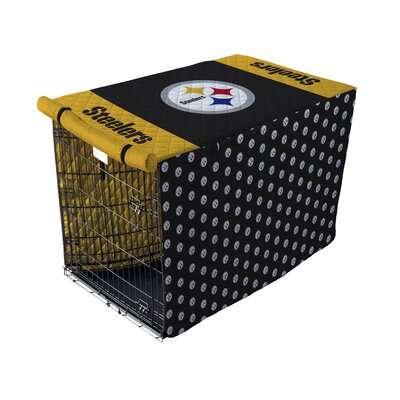 NFL Pet Crate Cover NFL Team: Pittsburgh Steelers, Size: 42 Crate