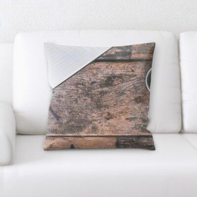 Poitras Coffee on Table Throw Pillow