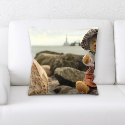 Beland Traveling Teddy Bear Throw Pillow