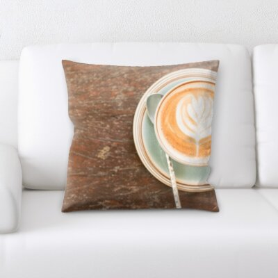 Konieczny Coffee on Table Throw Pillow
