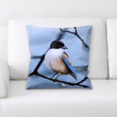 Chagoya Bird on a Tree Throw Pillow