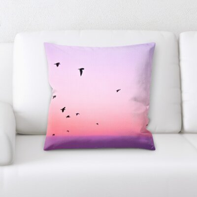 Grunwald Bird Flying Throw Pillow