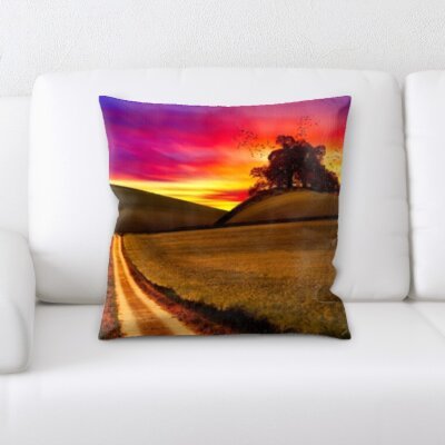 Belmonte Bird Flying From Tree of Life Throw Pillow