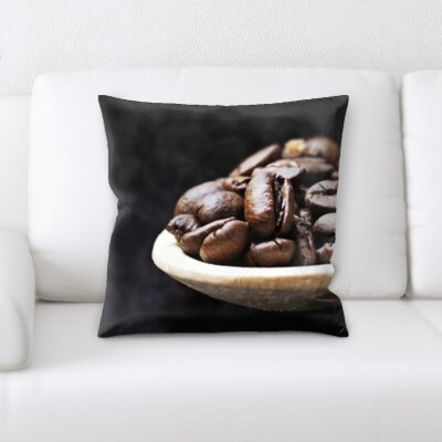 Kunze Spoon Full of Coffee Beans Throw Pillow